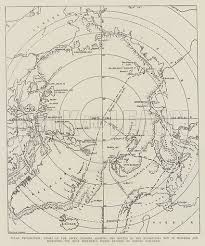 Exploration Chart Polar Exploration Chart Of The Arctic Regions Showing The