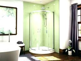 one piece corner shower one piece corner shower 1 stalls kohler one piece corner shower units