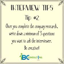 Interview Tip 28 December 2016 1bc Consulting