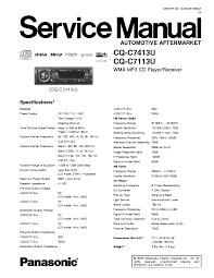 panasonic cq c1305u c1305l c1335u c1335l service manual cq c7105u panasonic