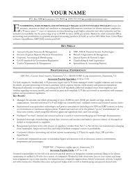Accounts Payable Resume Summary Senior Accountant Resume Inspirational Accounts Payable Resume