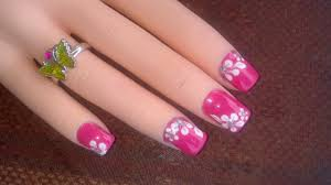 Easy Nail Designs Flowers • Nail Designs