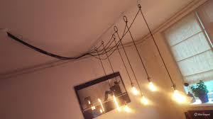 5 Losse Lampen Met Haken Ophangen Boven De Eetkamer Tafel Een Lo