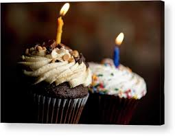 Cupcakes With Birthday Candles Acrylic Print By Michael Anthony