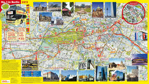 map of berlin tourist attractions, sightseeing & tourist tour Berlin Sites Map map of berlin hop on hop off bus tour with bvb berlin tourist sites map