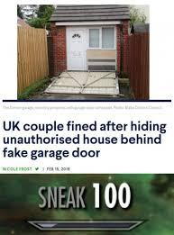 uk couple fined after hiding unauthorised house behind fake garage door meme xyz
