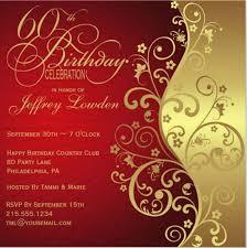 60th Birthday Invitation Template 19 Free Psd Vector