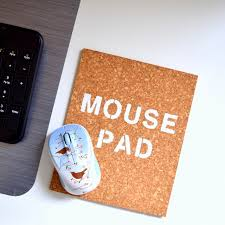 simple cork mouse pad diy