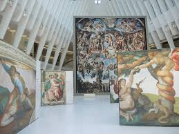 up close michaelangelo s sistine chapel at the oculus at westfield world trade center courtesy of sarah cascone