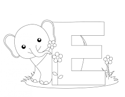 Small Picture Coloring Pages Animals Letters Coloring Pages