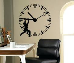 home office wall art. Man Silhouette Stop The Time Art Wall Sticker Clock Patterned Home Office Business Decorative Vinyl For