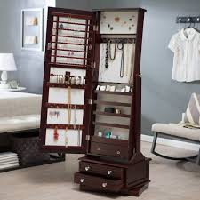 best mirrored jewelry armoire design for home decoration mirrored cheval jewelry armoire in a bedroom