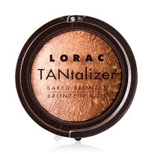 get red carpet radiance in the blink of an eye with this terra cotta baked bronzing powder that keeps you shining hours after the sunsets