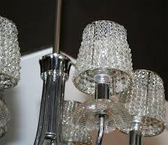 1940s hollywood chandelier w crystal pendants and beaded shades crystal shade chandelier