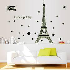 luminous stickers romantic loves in paris pattern eiffel tower eiffel tower wall