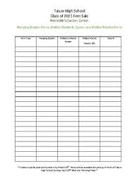 Fundraising Order Form Templates Fundraiser Order Form Template