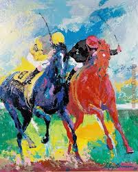 leroy neiman polo horses painting anysize 50 off polo horses painting for