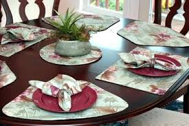 wedge for round tables table light green tropical shaped curved placemats