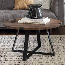 Click here & we'll beat it! Amazon Com Walker Edison Anastasia Modern Metal Wrap X Base Coffee Table 30 Inch Walnut Brown And Black Furniture Decor