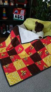 Curious George Fabric Quilt w/ Curious George Stuffed Animal ... & Curious George Collectors Pattern Quilt / Backed with vintage White  Chenille Fabric. Adamdwight.com