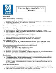 Tips For Answering Interview Questions Beacon Careers University