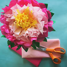 How To Make Flower Out Of Tissue Paper How To Make A Flowers Out Of Tissue Paper Easy Youtube Easy