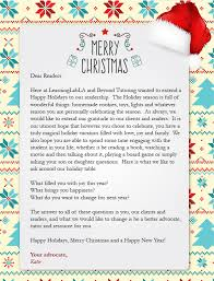 Christmas Letters To Clients Examples