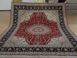 8 x 10 hand knotted brand new wool and silk sino persian tabriz oriental area rug 12980583 goodluck rugs