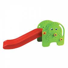 Купить детскую <b>горку Edu-Play Малыш</b> зелёный/красный/жёлтый ...