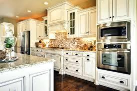 white glazed kitchen cabinets antique white