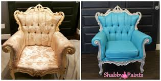 painting fabric furniturePainting Fabric With Chalk Paint Shabby Paints Before After