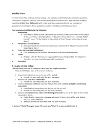 close reading essay examples close reading essay example critical  poem of the week handout 009416206 1 24870a001c8abc4ee22fe65fb007b475 poem of the week handout close reading poetry