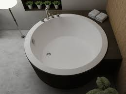 nice round bath tub 24 lusso stone notion resin solid surface freestanding bathtub