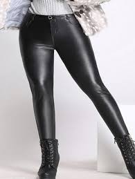 s plus size skinny faux leather pants