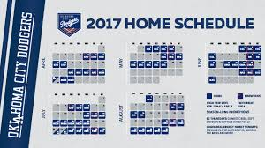 Okc Dodgers Announce 2017 Home Schedule Oklahoma City