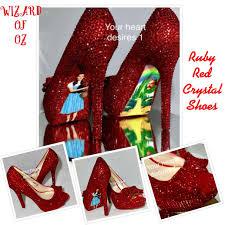ruby red wizard of oz dorothy crystal red wedding shoes prom shoes Red Wedding Heels Uk ruby red wizard of oz dorothy crystal red wedding shoes prom shoes bride shoes by yourheartdesires1 red wedding heels uk