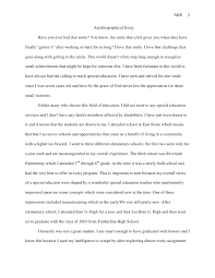 sample autobiography essays educational autobiography essay sample