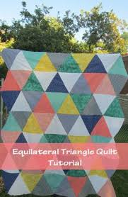 Triangle Quilt Tutorial | Triangle quilt tutorials, Quilt ... & Equilateral Triangle Quilt. No template required. Finished quilt is a crib  size, 40 Adamdwight.com