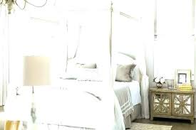 King Size Wood Canopy Bed White Wood Canopy Bed White Canopy Bed ...