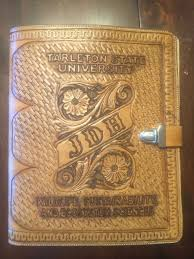 picture of handcrafted custom leather portfolio