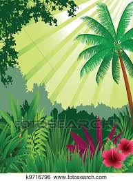 Beautiful Forest Background Clip Art K9716796 Fotosearch