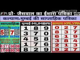 Kalyan Patrika Chart 09 06 2018 Kalyan Mumbai Weekly Karodpati Chart Dekho Paisa