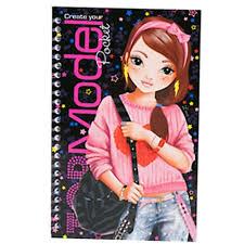 top model pocket coloring book stars design