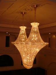 commercial chandelier installation