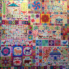 Pandemonium quilt in 100% Kaffe Fassett Collective fabrics. Design ... & Pandemonium quilt in 100% Kaffe Fassett Collective fabrics. Design by Kim  McLean. Hand Adamdwight.com