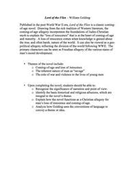 lord of the flies final argument essay british literature high lord of the flies unit materials the lord of the flies unit is a comprehensive