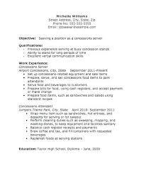 Server Resume Skills Awesome Objective For Server Resume Subway Job Description Banquet