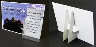 Cardboard Easel Display Stand Custom 332 33232 X 332332 Cardboard Sign Holder With Decal Brochure Pocket