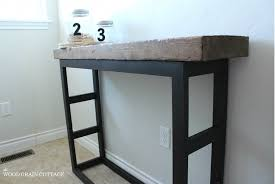 diy laundry room side table pottery barn style the wood