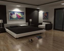 bedroom lighting ideas modern. Modern Bedroom Concept Featuring King Platform Bed And Square Lighting Ideas .
